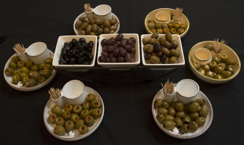 olives on display